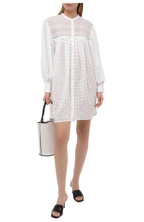 Женское хлопковое платье ISABEL MARANT ETOILE белого цвета, арт. R01928-21P032E/TILALIA | Фото 2