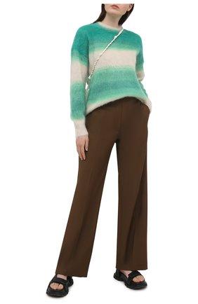 Женский пуловер ISABEL MARANT ETOILE зеленого цвета, арт. PU1244-21P056E/DRUSSELL   Фото 2