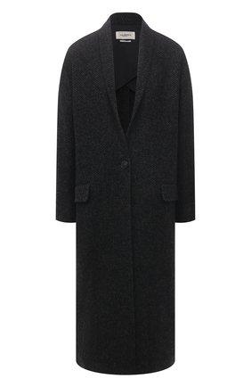 Женское шерстяное пальто ISABEL MARANT ETOILE темно-серого цвета, арт. MA0811-21P007E/HEN0L | Фото 1