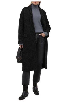 Женское шерстяное пальто ISABEL MARANT ETOILE темно-серого цвета, арт. MA0811-21P007E/HEN0L | Фото 2