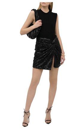 Женская юбка с пайетками IN THE MOOD FOR LOVE черного цвета, арт. ISLAY SKIRT | Фото 2
