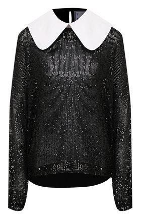 Женская блузка с пайетками IN THE MOOD FOR LOVE черного цвета, арт. DAVINA T0P | Фото 1