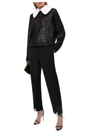 Женская блузка с пайетками IN THE MOOD FOR LOVE черного цвета, арт. DAVINA T0P | Фото 2