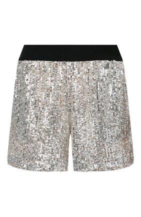 Женские шорты с пайетками IN THE MOOD FOR LOVE серебряного цвета, арт. CASH S0LID SH0RT | Фото 1