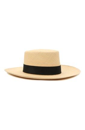Женская шляпа BALMAIN бежевого цвета, арт. VF1A050/H010 | Фото 2 (Материал: Растительное волокно, Текстиль)