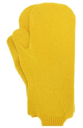 Женские шерстяные варежки BOTTEGA VENETA желтого цвета, арт. 653594/3V00M | Фото 2