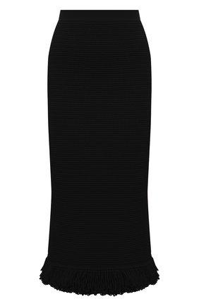 Женская хлопковая юбка BOTTEGA VENETA темно-коричневого цвета, арт. 651244/V0FU0 | Фото 1