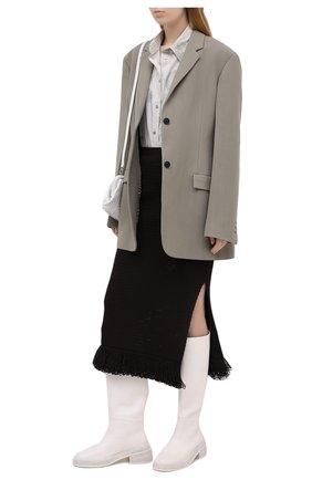 Женская хлопковая юбка BOTTEGA VENETA темно-коричневого цвета, арт. 651244/V0FU0 | Фото 2