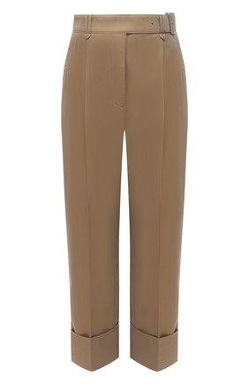 Женские хлопковые брюки ACNE STUDIOS темно-бежевого цвета, арт. AK0356 | Фото 1