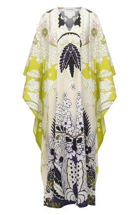 Женское хлопковое платье VALENTINO разноцветного цвета, арт. VB3VDBS167S | Фото 1