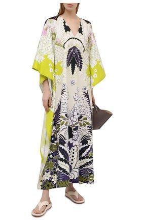 Женское хлопковое платье VALENTINO разноцветного цвета, арт. VB3VDBS167S | Фото 2
