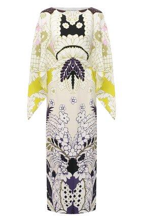 Женское шелковое платье VALENTINO разноцветного цвета, арт. VB3VAV8067G   Фото 1