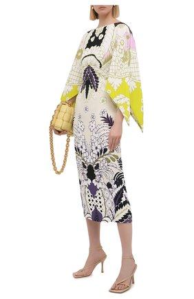 Женское шелковое платье VALENTINO разноцветного цвета, арт. VB3VAV8067G   Фото 2