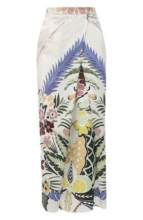 Женская хлопковая юбка VALENTINO разноцветного цвета, арт. VB3RA7F367S   Фото 1