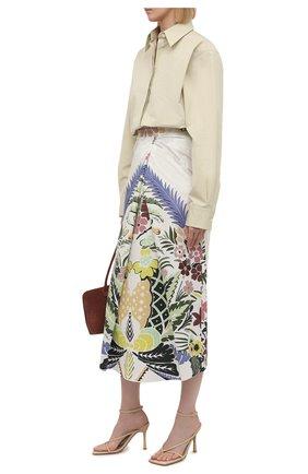 Женская хлопковая юбка VALENTINO разноцветного цвета, арт. VB3RA7F367S   Фото 2