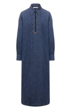 Женское джинсовое платье VALENTINO синего цвета, арт. VB3DBD25433 | Фото 1