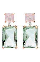 Женские серьги CASATO бесцветного цвета, арт. ORX341QR/PRA | Фото 1 (Материал сплава: Розовое золото, Белое золото; Драгоценные камни: Без драгоценных камней)