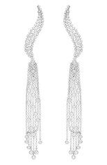 Женские серьги CASATO бесцветного цвета, арт. ORX561BT(W) | Фото 1 (Материал сплава: Белое золото; Драгоценные камни: Бриллианты)