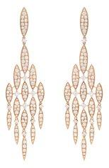 Женские серьги CASATO бесцветного цвета, арт. ORX922BT-P | Фото 1 (Материал сплава: Розовое золото; Драгоценные камни: Бриллианты)