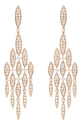 Женские серьги CASATO бесцветного цвета, арт. ORX922BT-P   Фото 1 (Драгоценные камни: Бриллианты; Материал сплава: Розовое золото)