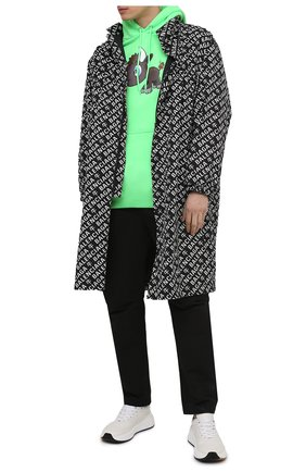 Мужской хлопковое худи BALENCIAGA зеленого цвета, арт. 600583/TJVE6 | Фото 2