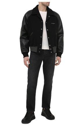 Мужские джинсы ACNE STUDIOS черного цвета, арт. B00172 | Фото 2