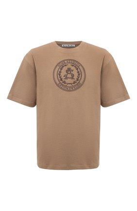 Мужская хлопковая футболка ACNE STUDIOS бежевого цвета, арт. BL0257   Фото 1