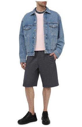 Мужские кожаные кеды perey ACNE STUDIOS черного цвета, арт. BD0113 | Фото 2