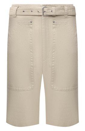 Мужские шорты из хлопка и льна ISABEL MARANT кремвого цвета, арт. SH0375-21P005H/PA0LIN0   Фото 1