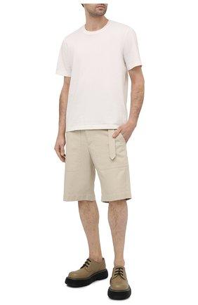 Мужские шорты из хлопка и льна ISABEL MARANT кремвого цвета, арт. SH0375-21P005H/PA0LIN0   Фото 2