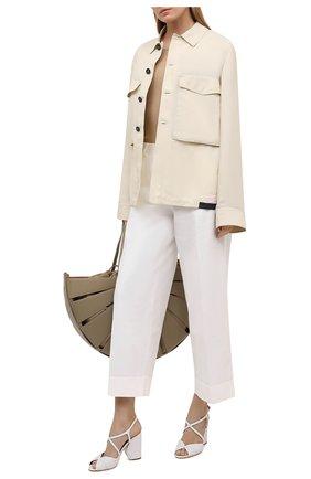 Женские кожаные босоножки calella LORO PIANA белого цвета, арт. FAL5967 | Фото 2