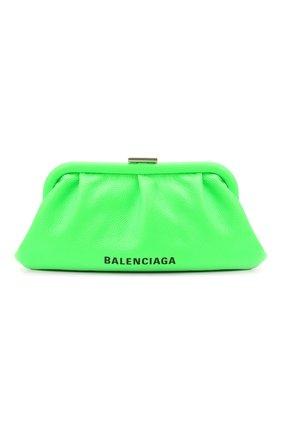 Женский клатч cloud xs BALENCIAGA зеленого цвета, арт. 618895/1IZ03 | Фото 1