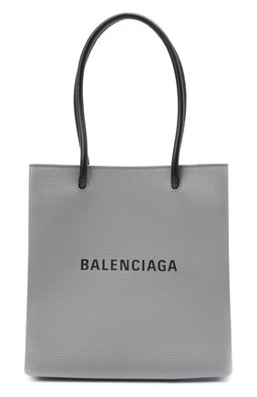 Женская сумка-тоут shopping xxs BALENCIAGA серого цвета, арт. 597858/0AI2N | Фото 1
