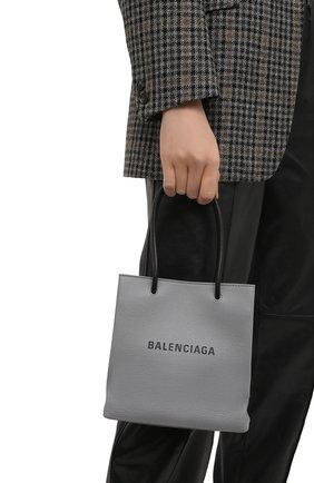 Женская сумка-тоут shopping xxs BALENCIAGA серого цвета, арт. 597858/0AI2N | Фото 2