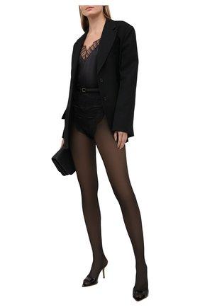 Женские шелковые шорты SAINT LAURENT черного цвета, арт. 652321/Y8B23 | Фото 2