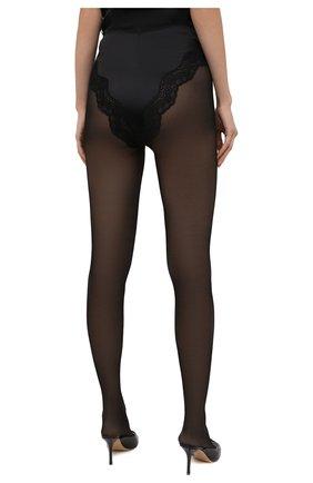 Женские шелковые шорты SAINT LAURENT черного цвета, арт. 652321/Y8B23 | Фото 4