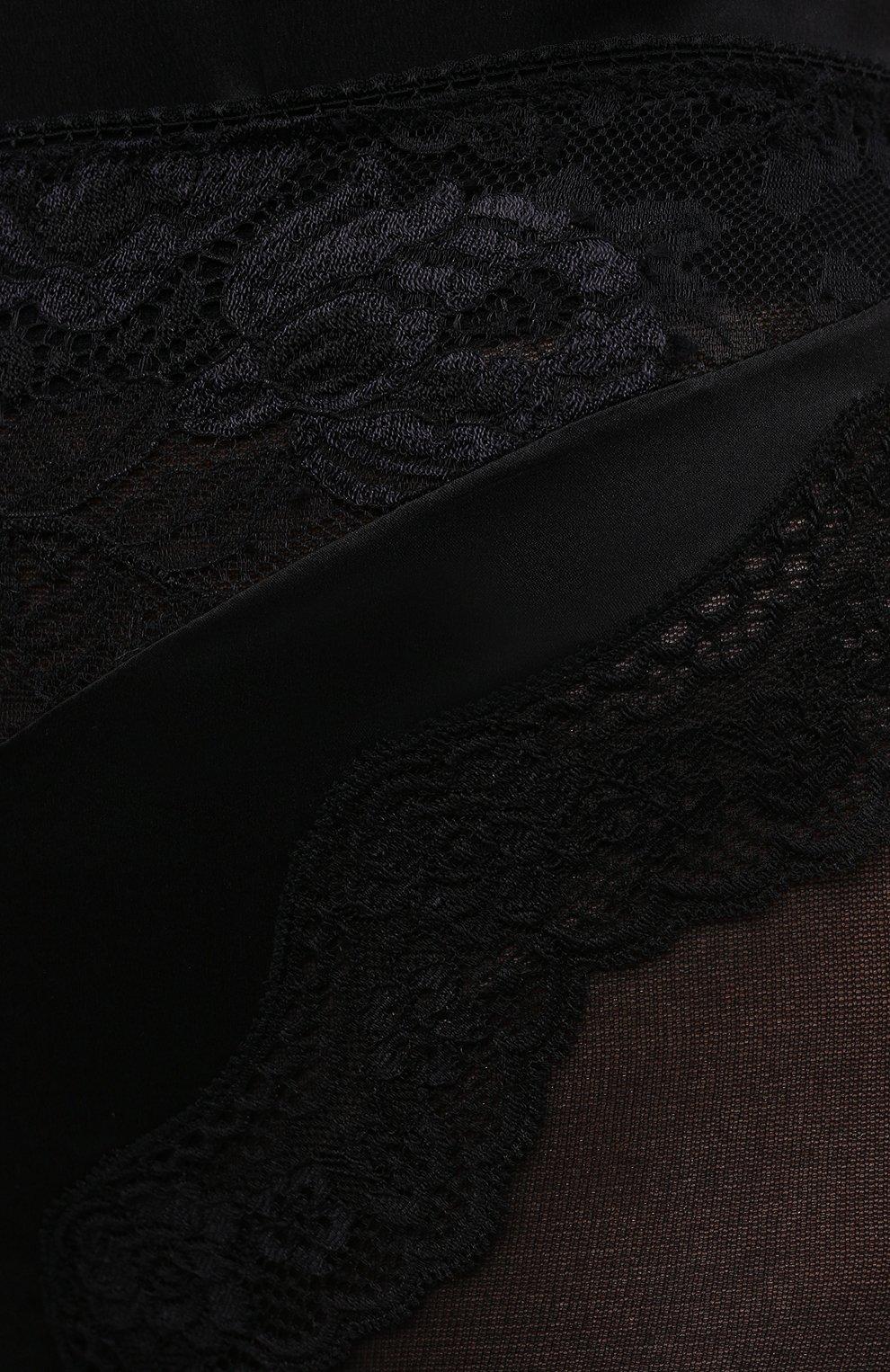 Женские шелковые шорты SAINT LAURENT черного цвета, арт. 652321/Y8B23 | Фото 5
