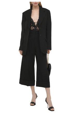 Женское боди SAINT LAURENT черного цвета, арт. 647962/Y418T | Фото 2