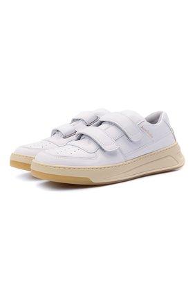 Женские кожаные кроссовки ACNE STUDIOS белого цвета, арт. AD0256   Фото 1 (Материал внутренний: Текстиль; Подошва: Платформа)