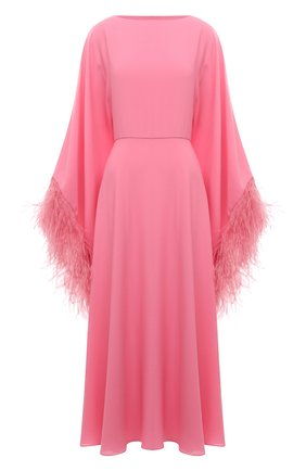 Женское платье с отделкой перьями VALENTINO розового цвета, арт. VB3VAUQ11MH | Фото 1