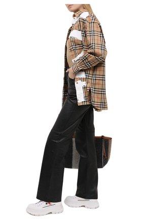 Женская текстильные ботинки tread slick ALEXANDER MCQUEEN белого цвета, арт. 660390/W4L3R | Фото 2 (Материал внутренний: Натуральная кожа; Материал внешний: Текстиль; Подошва: Платформа; Каблук высота: Низкий)