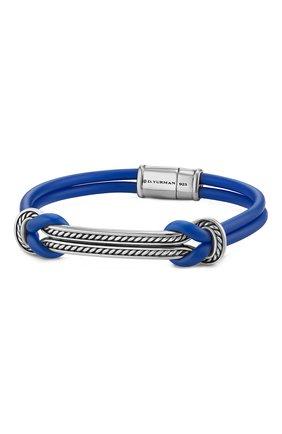 Мужской браслет DAVID YURMAN синего цвета, арт. B15861MSSRBRBLU | Фото 1