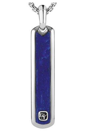 Мужской кулон DAVID YURMAN серебряного цвета, арт. D15855MSSBLA | Фото 1