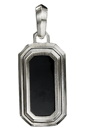 Мужской кулон DAVID YURMAN серебряного цвета, арт. D25711MSSBBO | Фото 1