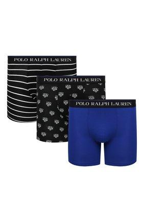 Мужские комплект из трех боксеров POLO RALPH LAUREN разноцветного цвета, арт. 714830300/006 | Фото 1