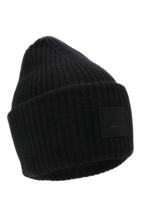 Мужская шерстяная шапка ACNE STUDIOS черного цвета, арт. C40135/M | Фото 1
