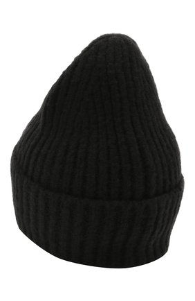 Женская шапка из шерсти и кашемира ACNE STUDIOS черного цвета, арт. C40106/W | Фото 2
