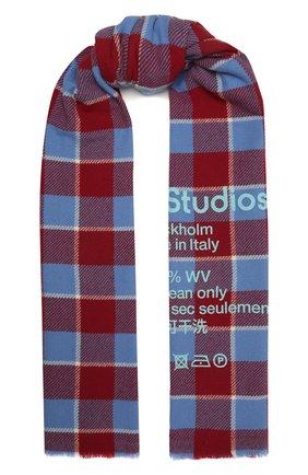 Женский шерстяной шарф ACNE STUDIOS разноцветного цвета, арт. CA0103/W   Фото 1