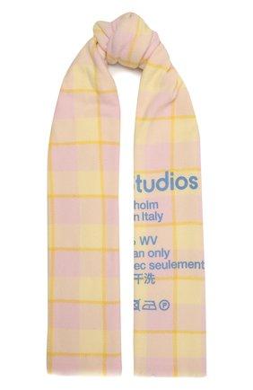 Женский шерстяной шарф ACNE STUDIOS желтого цвета, арт. CA0103/W   Фото 1