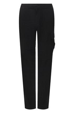 Мужские льняные брюки-карго STONE ISLAND черного цвета, арт. 741531601 | Фото 1